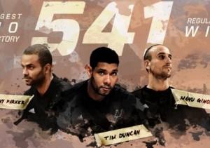Trio GInóbili Parker Duncan