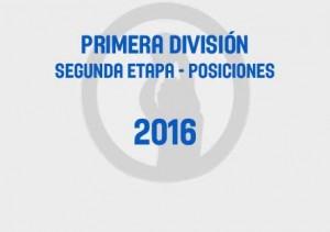 Primera Segunda Tabla 2016