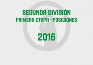 Segunda Primera Tabla 2016