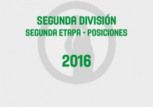 Segunda Segunda Tabla 2016