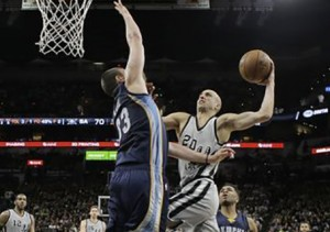 Ginóbili NBA Spur Grizzlies NBA