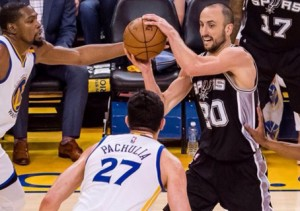 Ginóbili NBA Spurs Warriors