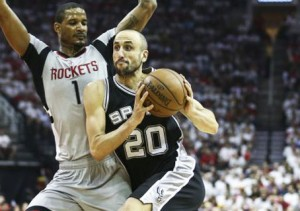 Spurs Rockets NBA Ginóbili